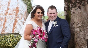 Happy moment: Shauna and Martin McCauley on their wedding day