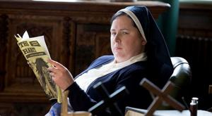 Speaking out: Siobhan McSweeney as Sister Michael in Derry Girls