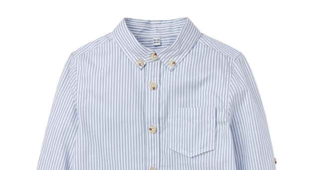 Marks and Spencer Pure Cotton Striped Oxford Shirt