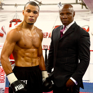 Boxing clever: Chris Eubank Jr with his father