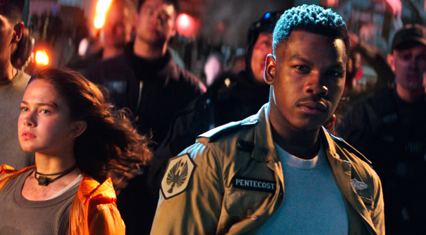 Space wars: John Boyega with Cailee Spaeny in Pacific Rim Uprising