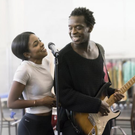 Tough role: Kobna Holdbrook-Smith in rehearsals with Adrienne Warren