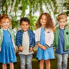 Nice and dry: Fearne for Mini Club Reversible Bomber Jackets, available in sizes 9-12 months to 5-6 years, £26 each from Boots