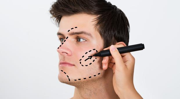 Cutting edge: for men, procedures on the facial features are now becoming as popular as those for the body