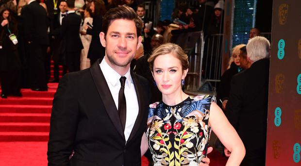 Emily Blunt with director husband John Krasinski