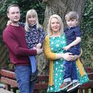 Happy family: Shelley Sloan with husband Neil and children Saul and Sadie