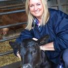 New arrival: Jo-Anne Dobson with calf Rory