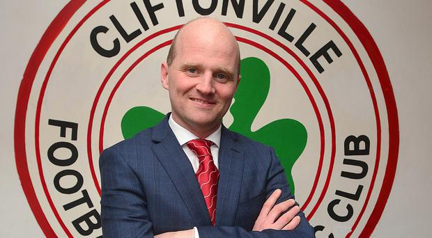 Cliftonville manager Barry Gray