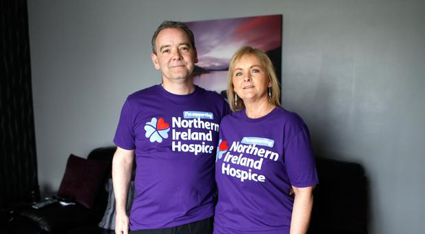 Tribute walk: Andrew Gallaher and partner Patricia Carrick are walking in memory of his late father, Freddie