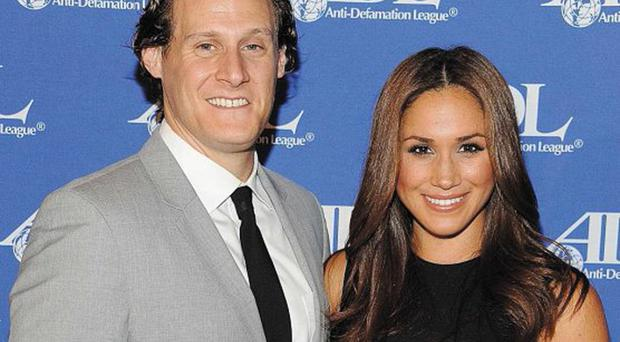 Past life: Meghan Markle and her ex-husband, Trevor Engelson
