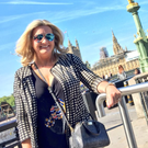Quality time: Mark Dobson's mum Jo-Anne on holiday in London