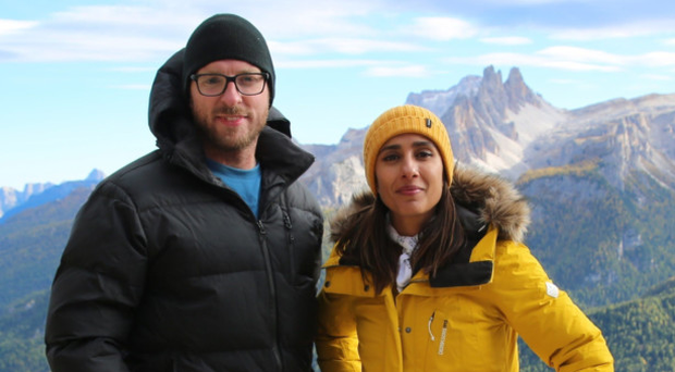 Intrepid explorers: JJ Chalmers and Anita Rani