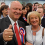 Broken bond: the DUP's David Simpson and his wife Elaine at an election count