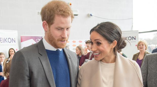 New start: Prince Harry and Meghan Markle in Belfast recently
