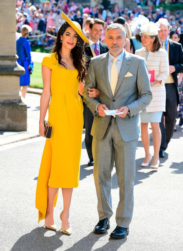 Amal Clooney with husband George