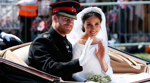 Meghan Markle with new husband Prince Harry