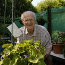 Keeping active: Roy Beck in the garden