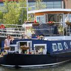 Gillian Campbell, own   er and designer of the barge that has been renovated into a luxury apartment