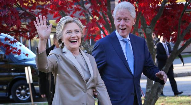 Rewriting history: Bill Clinton and wife Hillary