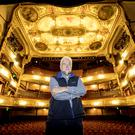 Ivan Little on the stage of the Grand Opera House