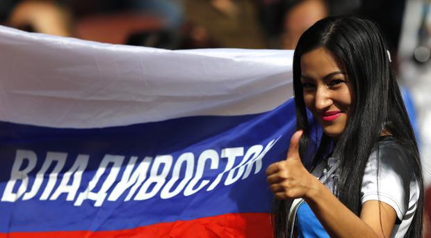 Russian fans have been in fine voice as they host this year's footie extravaganza
