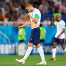 Change tact: England player Eric Dier trudges off the pitch after his side's 1-0 defeat to Belgium