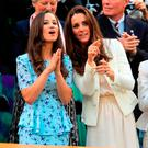 It's ace: TheDuchess of Cambridge (right) with her sister Pippa Middleton.