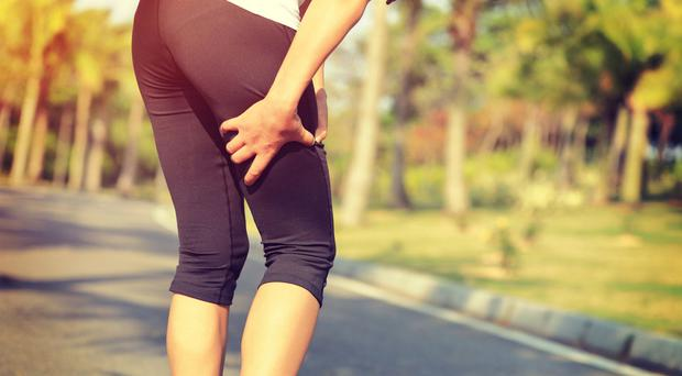 Thigh strain: chafing can be a problem during a hot summer