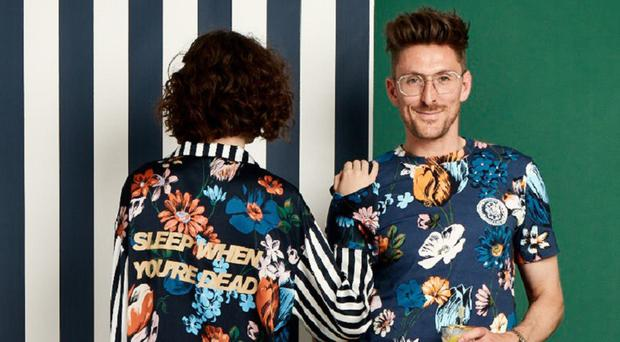 Fashion guru: Henry Holland with a model wearing his pyjamas