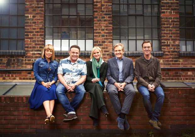 Long career: above, Jimmy Nesbitt with his Cold Feet co-stars during the seventh series