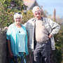 Terry and Alison Kelso in Glenarm, Co Antrim, who failed in their attempt to get car insurance after travelling all the way from New Zealand