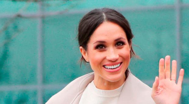 Meghan during a visit to Northern Ireland