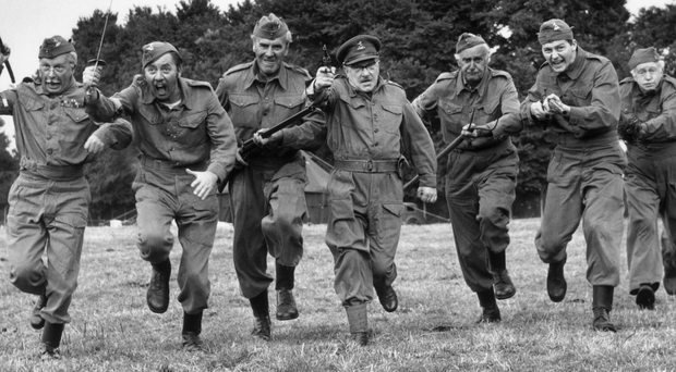 Classic comedy: (from left) Clive Dunn, James Beck, John LeMesurier, Arthur Lowe, John Laurie, Ian Lavender and Arnold Ridley