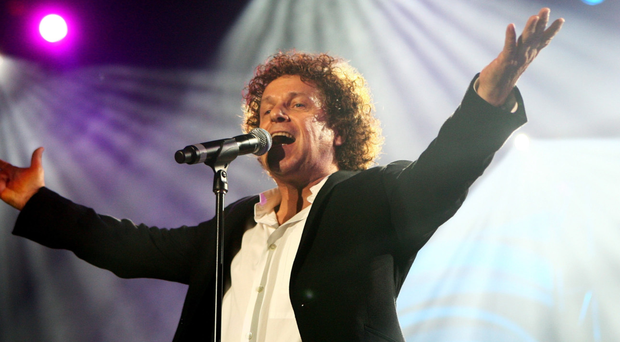 Leo Sayer performing on stage in Melbourne in his adopted home of Australia