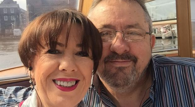 Carol Wightman and her devoted husband Trevor on their last holiday together in Amsterdam
