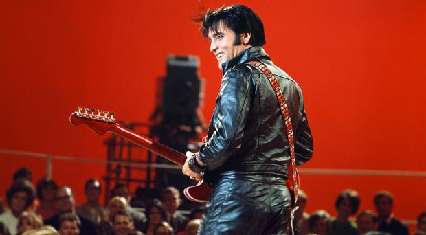 Oozing charisma: Elvis Presley during his 1968 comeback special on NBC
