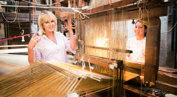 Exotic journey: Joanna Lumley in the Bevilacqua Weavers in Venice