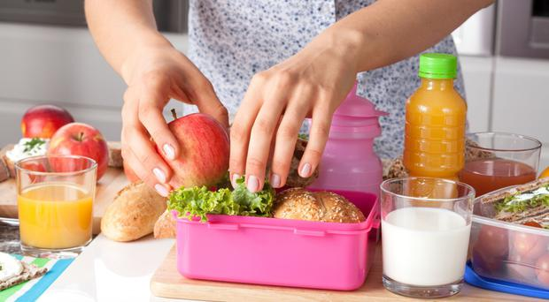 Good food: healthy packed lunches can ward off children's colds