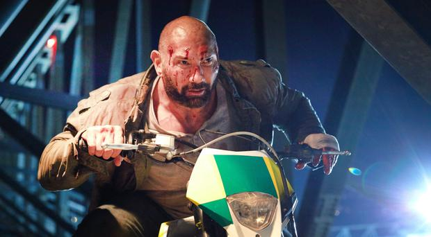 Riding high: Dave Bautista in Final Score