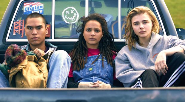 Challenging journey: Chloe Grace Moretz (right) with Forrest Goodluck and Sasha Lane in The Miseducation of Cameron Post