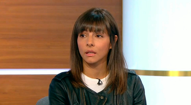 Fall from grace: Roxanne Pallett apologising to fellow BB contestant Ryan Thomas on The Jeremy Vine Show
