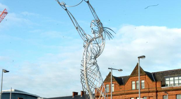 Spiritual power: The Angel of Thanksgiving, overlooking the River Lagan