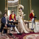Grace period: Claudia Jessie (far right) as Amelia Sedley in Vanity Fair with fellow co-stars (left to right) Tom Bateman, Charlie Rowe, Olivia Cooke and Johnny Flynn