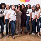 Wearing confidence: Bruce Forsyth's widow Wilnelia Forsyth and Lisa Snowden with a cast of models aged 45 and over at the JD Williams Midster catwalk