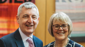 Moderator of the Presbyterian Church in Ireland Dr Charles McMullen and wife Barbara