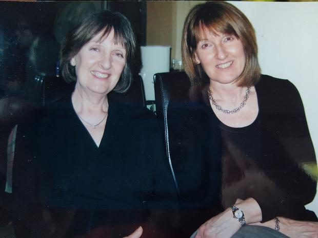 Catherine with sister Pamela