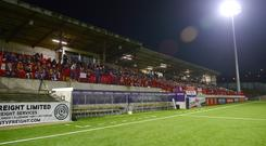 Fans will not be watching the County Antrim Shield semi-final under the floodlights at Inver Park.
