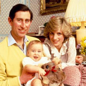 Happier times: Charles and Diana with Prince William aged two
