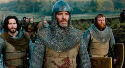 Warrior legend: Chris Pine as Robert the Bruce
