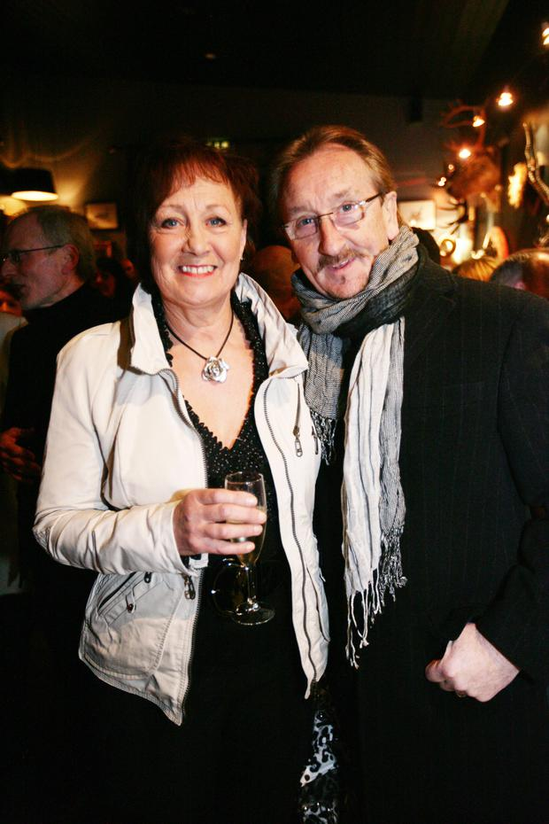 George with his wife Hilary